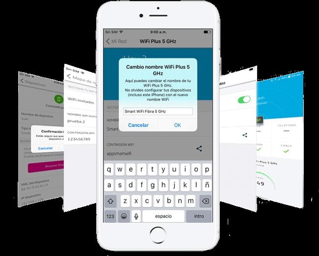e0965ac258c Podrás personalizar el nombre y la contraseña de tu red WiFi de manera muy  sencilla a través de tu app. Así como asociar un nombre y una foto para  cada uno ...